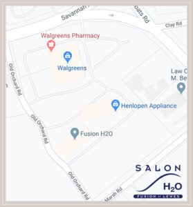 Map to Salon H2O Lewes